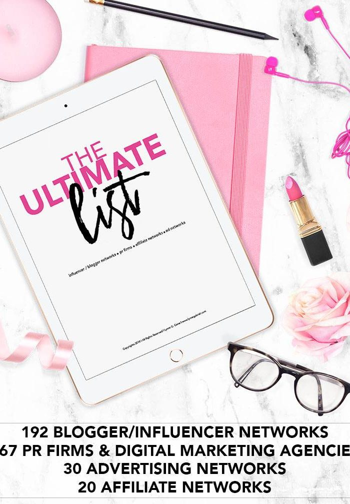 The Ultimate List of Blogger / Influencer Networks, PR Firms & Digital Marketing Companies, Affiliate Networks, Ad Networks, Hotel Contacts and More!