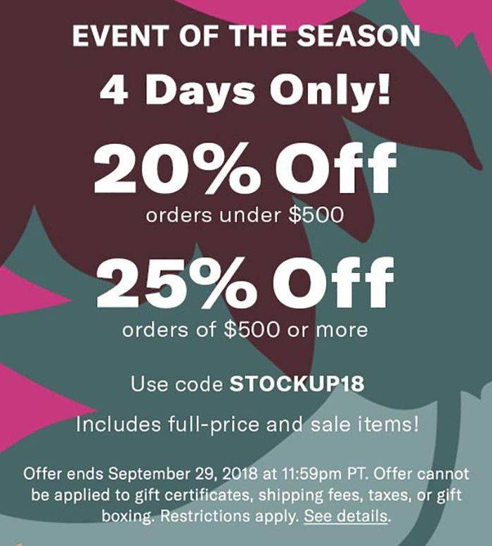 Public Service Announcement : Shopbop's Biggest Sale of the Season is Here!