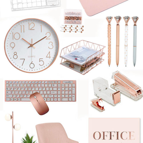 Rose Gold Office Accessories-featured